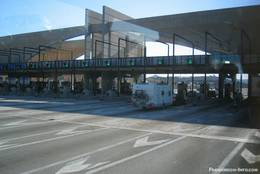 Mautstelle auf der französischen Autobahn